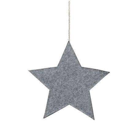 Διακοσμητικό κρεμαστό αστέρι τσόχα Γκρι 51cm