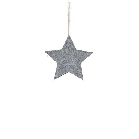 Διακοσμητικό κρεμαστό αστέρι τσόχα Γκρι 28cm