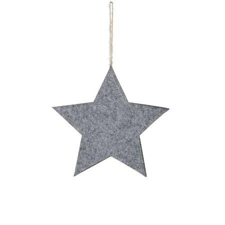 Διακοσμητικό κρεμαστό αστέρι τσόχα Γκρι 38cm