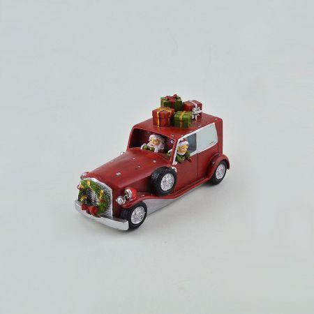 Διακοσμητικό LED Χριστουγεννιάτικο αμαξάκι επιτραπέζιο 18x8x11cm