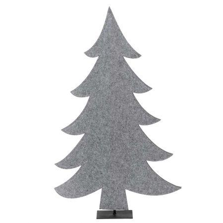 Διακοσμητικό δέντρο - έλατο από τσόχα Γκρι 59x92cm