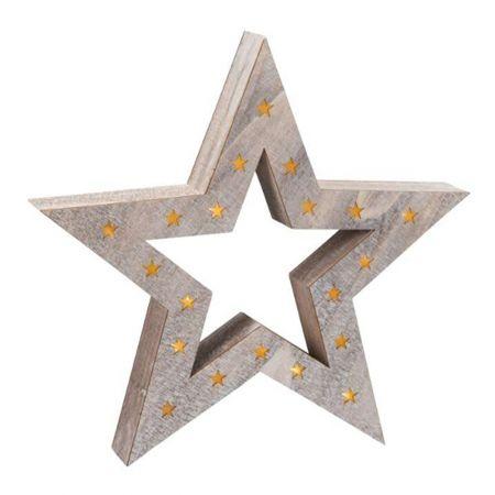Διακοσμητικό φωτιζόμενο αστέρι ξύλινο 52,5cm