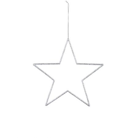 Διακοσμητικό κρεμαστό αστέρι Ασημί 24,5cm