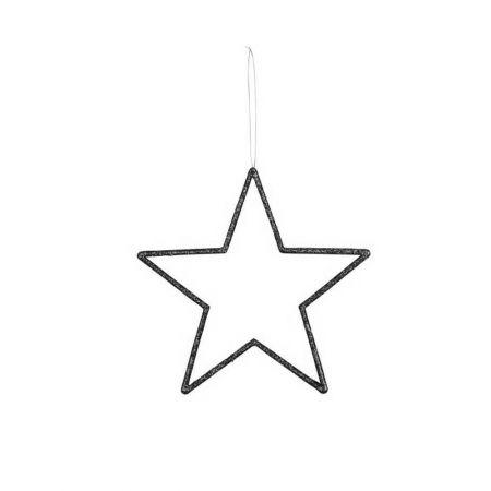 Διακοσμητικό κρεμαστό αστέρι PVC Μαύρο 24,5cm