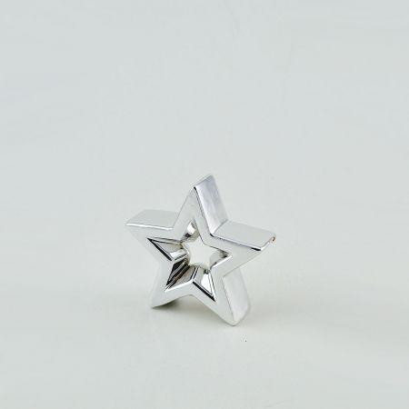 Διακοσμητικό επιτραπέζιο αστέρι Ασημί 9x8,5x2,5cm