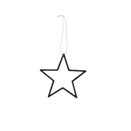 Διακοσμητικό κρεμαστό αστέρι PVC Μαύρο 12cm