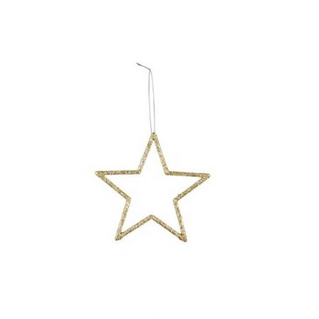 Διακοσμητικό κρεμαστό αστέρι PVC Χρυσό 12cm