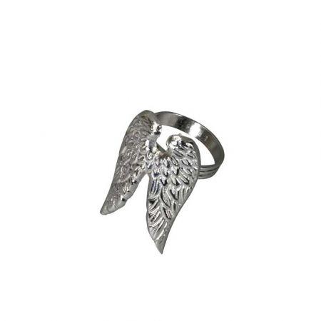 Δαχτυλίδι πετσέτας - Τάρανδος - Φτερά αγγέλου - Ασημί 4x7x5cm