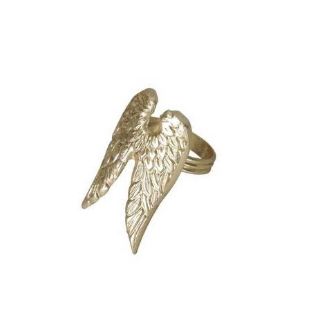 Δαχτυλίδι πετσέτας - Φτερά αγγέλου - Χρυσά 4x7x5cm