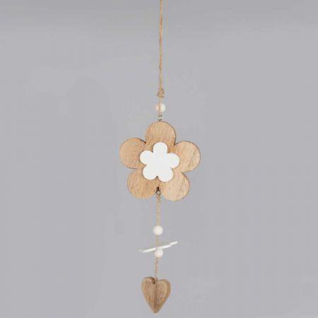 Διακοσμητικό κρεμαστό στολίδι Λουλούδι - Καρδιά 35cm