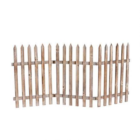 Διακοσμητικός φράκτης Φυσικό ξύλο 60x120cm