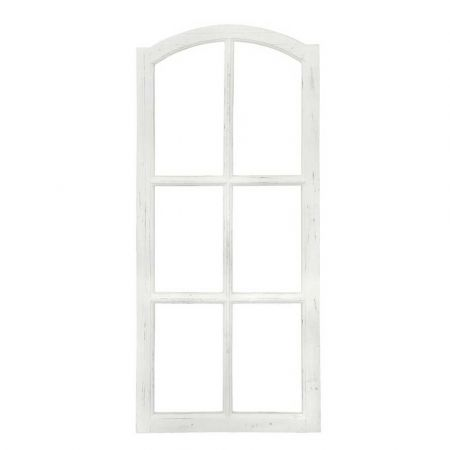 Διακοσμητικό παράθυρο ξύλινο Λευκό 50x112cm