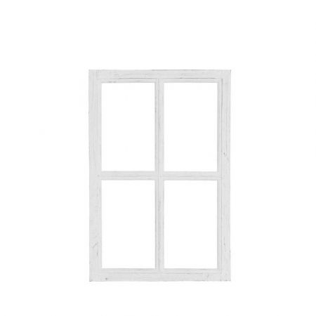 Διακοσμητικό Παράθυρο Ξύλινο Λευκό 40x60cm