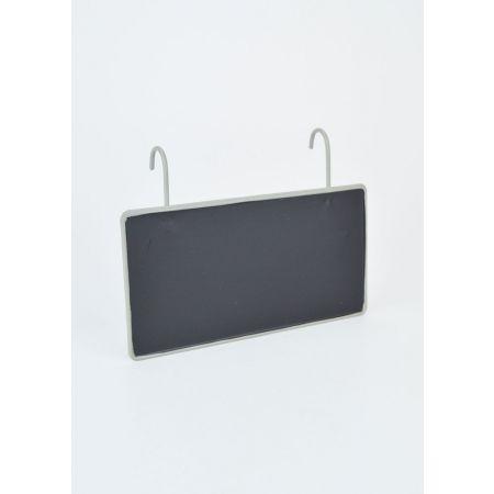 Διακοσμητικός μαυροπίνακας με γαντζάκια 15x11cm