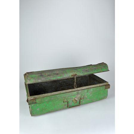 Διακοσμητική βαλίτσα μεταλλική Πράσινη 36x69x25.5cm