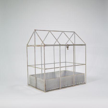 Διακοσμητικό κλουβί - σπιτάκι μεταλλικό 38x25x41cm