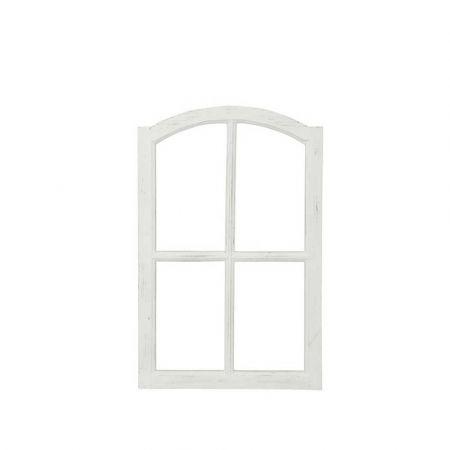 Διακοσμητικό παράθυρο ξύλινο Λευκό 50x77cm