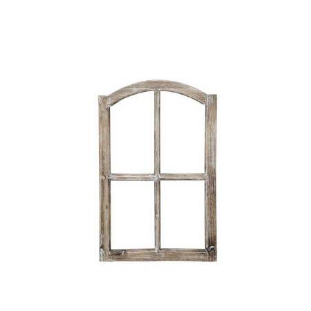 Διακοσμητικό παράθυρο ξύλινο Φυσικό καφέ 50x77cm