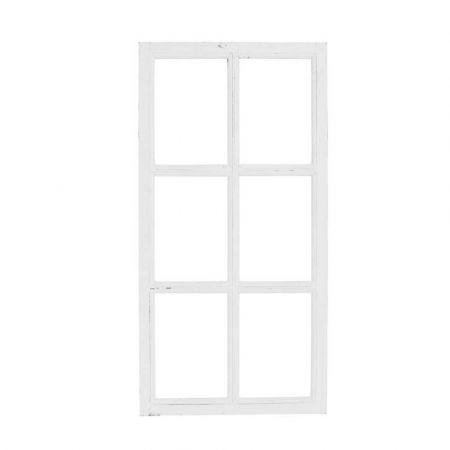 Διακοσμητικό παράθυρο ξύλινο Λευκό 43x8560x120cm