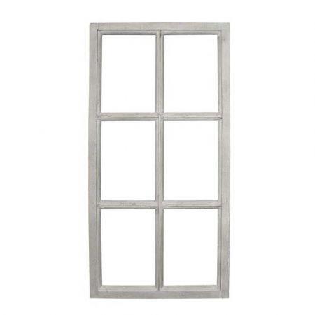 Διακοσμητικό παράθυρο ξύλινο Γκρι 43x85cm