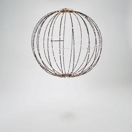 Φωτιζόμενη μπάλα 300microLED IP44 Θερμό Λευκό 40cm