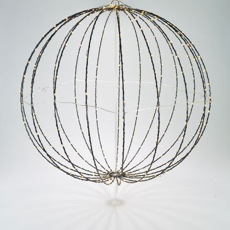 Φωτιζόμενη μπάλα 440microLED IP44 Θερμό Λευκό 60cm