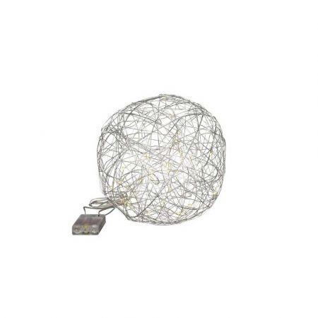 Διακοσμητική φωτιζόμενη συρμάτινη μπάλα μπαταρίας 20LED 20cm