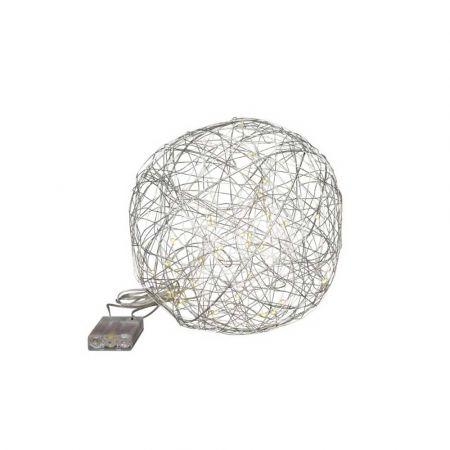 Διακοσμητική φωτιζόμενη συρμάτινη μπάλα μπαταρίας 30LED 25cm