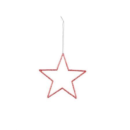 Διακοσμητικό κρεμαστό αστέρι PVC Κόκκινο 12cm
