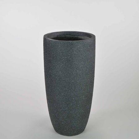 XL κυλινδρικό βάζο Ανθρακί 32x63cm