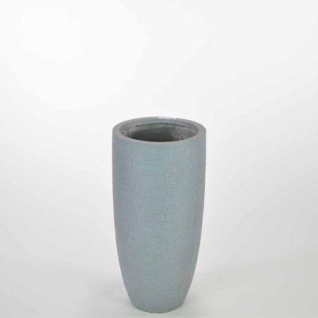 Διακοσμητικό βάζο Γκρι 23x46cm