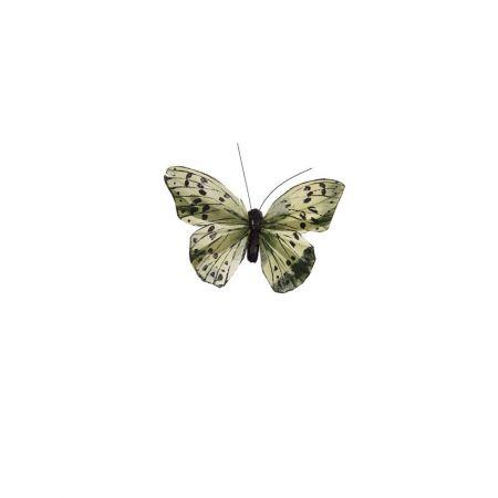 Διακοσμητική πεταλούδα με κλιπ Πράσινο 10cm