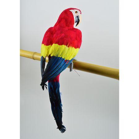 Διακοσμητικός μεγάλος παπαγάλος Κόκκινος 88cm
