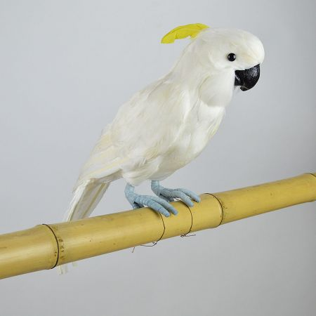 Διακοσμητικός παπαγάλος Κακατούα Λευκός 44cm
