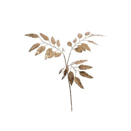 Διακοσμητικό κλαδί με φύλλα ευκαλύπτου Χρυσό 78cm
