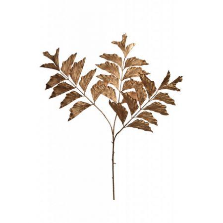 Διακοσμητικό κλαδί με φύλλα -fishtail- Χρυσό 107cm