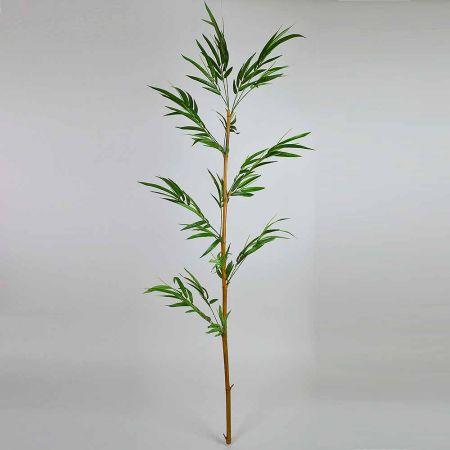 Διακοσμητικό τεχνητό Μπαμπού με Πράσινα φύλλα 240cm