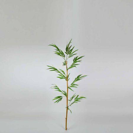 Διακοσμητικό τεχνητό Μπαμπού με Πράσινα φύλλα 180cm
