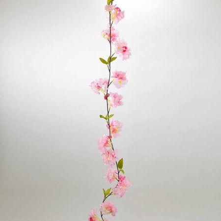 Ανοιξιάτικη γιρλάντα με Ροζ άνθη Κερασιάς 180cm