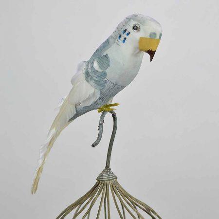 Διακοσμητικό παπαγαλάκι Parakeet Λευκό 32cm