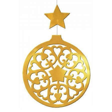 Διακοσμητική κρεμαστή Χριστουγεννιάτικη μπάλα Χρυσή 50x80cm