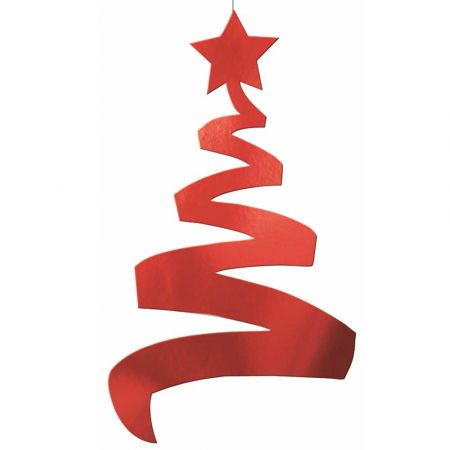 Διακοσμητικό κρεμαστό Χριστουγεννιάτικο δέντρο Κόκκινο 70cm