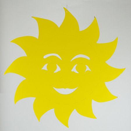 Διακοσμητικός χάρτινος ήλιος Κίτρινος 68cm