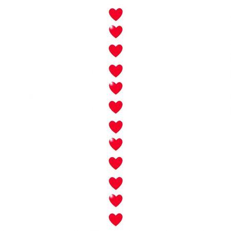 Διακοσμητική γιρλάντα με 12 χάρτινες καρδιές 180cm
