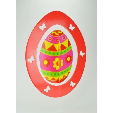 Διακοσμητικό Πασχαλινό κρεμαστό αυγό 62x48cm