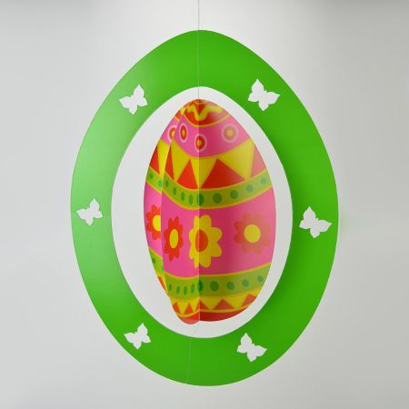 Διακοσμητικό Πασχαλινό κρεμαστό αυγό Πράσινο 62x48cm