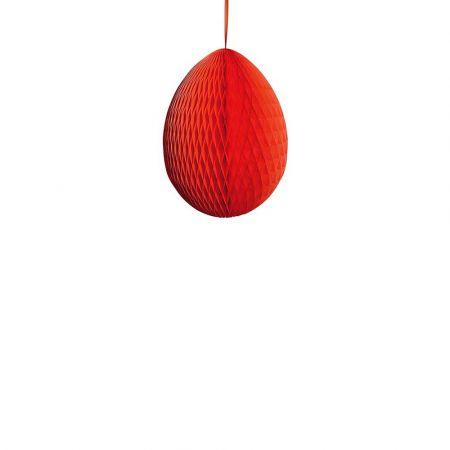 Διακοσμητικό Πασχαλινό αυγό κυψελωτό Κόκκινο 20cm