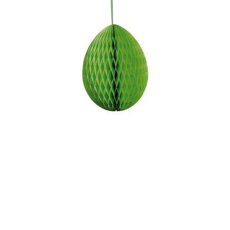 Διακοσμητικό Πασχαλινό αυγό κυψελωτό Πράσινο 20cm