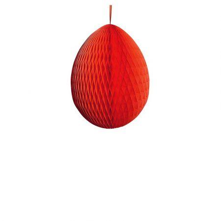 Διακοσμητικό Πασχαλινό αυγό κυψελωτό Κόκκινο 30cm