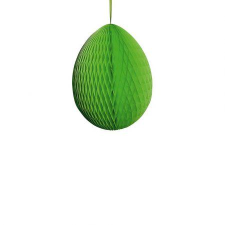 Διακοσμητικό Πασχαλινό αυγό κυψελωτό Πράσινο 30cm